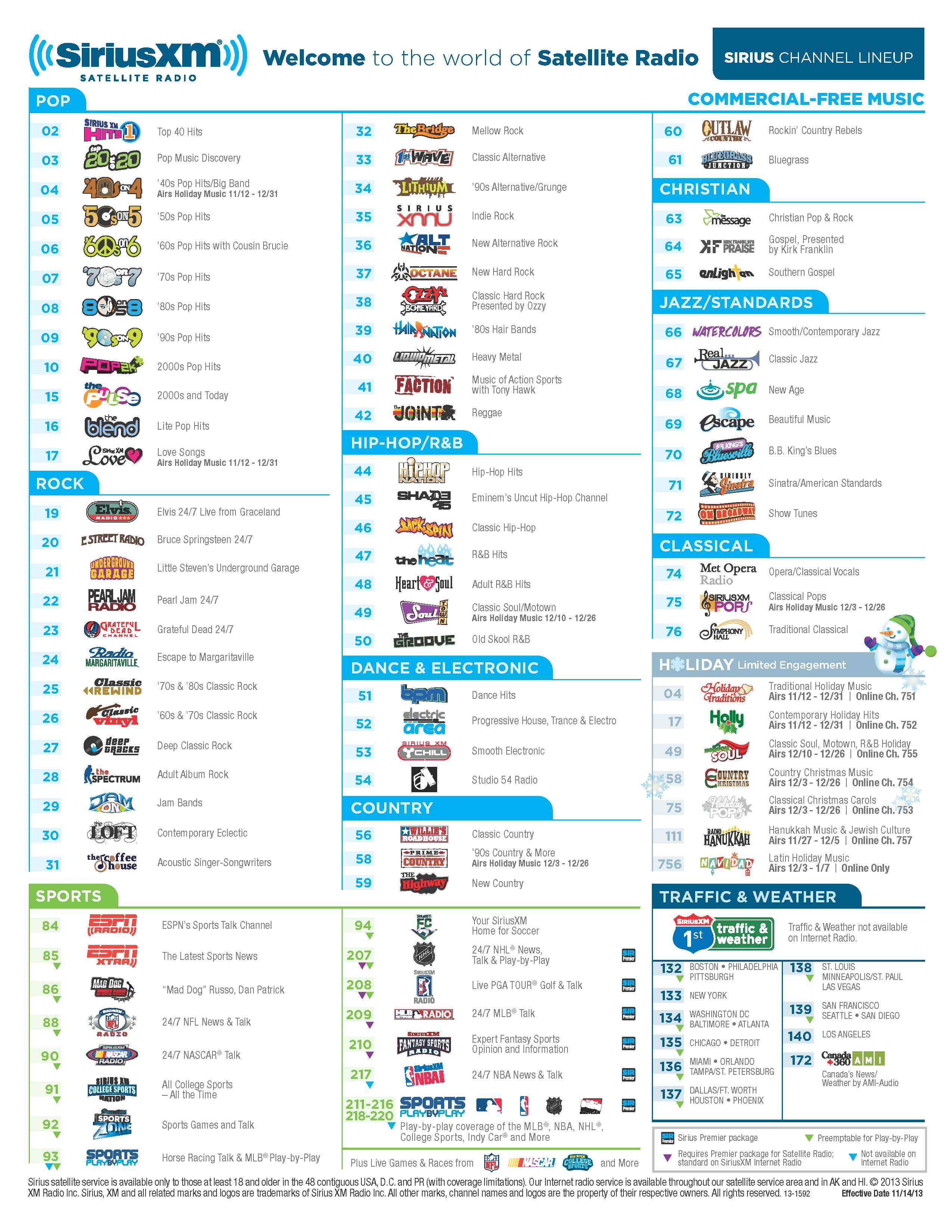 Lucrative image throughout sirius xm channel guide printable