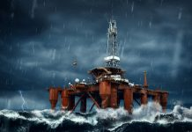 Offshore Oil Rig Storm
