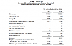 CLWY Earnings 2017-05-18